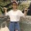 เสื้อแฟชั่น สีขาว แต่งคอ สไตล์เกาหลีใส่ออกมาแล้วแนวมากจ้า พร้อมส่งน้า thumbnail 1