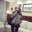 เสื้อกันหนาว บุนวมฟูๆ แต่งขนแกะที่คอปกเสื้อ ตัวสั้นน่ารัก ผ้าร่มเนื้อดีกันลม เกาหลีมากๆ พร้อมส่ง thumbnail 4