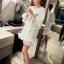 เสื้อตัวยาว/ mini dress สุดน่ารัก ผ้า cotton เนื้อนุ่มแต่งระบายหวานๆ thumbnail 8