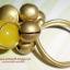 (ขายแล้วค่ะ) C011 แหวนทองเหลืองหัวใจหยกน้ำผึ้ง thumbnail 1