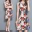 **สินค้าหมด Dress4045 ชุดเดรสทรงสวยลายใบไม้ ซิปหลังใส่ง่าย ผ้าโพลีเนื้อดีนุ่มใส่สบาย งานสวยใส่ง่ายน่ารักมาก thumbnail 1