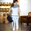 Set_bt1601 ชุดเซ็ท 2 ชิ้น(เสื้อ+กางเกง) เสื้อแขนสั้นสกรีนลายอก กางเกงขายาวสี่ส่วนเอวยืด มีกระเป๋าข้าง งานผ้าคอตตอนสีพื้นตัดลายสก็อต งานดีแบบน่ารัก ผ้านุ่มใส่สบายยืดขยายได้ ใส่เก๋ๆ ได้บ่อย มี 2 สี ขาว, ดำ thumbnail 17