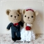 """ตุ๊กตาแต่งงาน 12"""" รวมส่ง ลทบ. thumbnail 1"""
