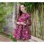 **สินค้าหมด Dress3969 ชุดเดรสแขนยาวทรงสวย ซิปหลัง งานตัดเย็บอย่างดี บุซับในทั้งชุด ผ้าอัดลายดอกไม้วินเทจโทนสีชมพูเข้ม ผ้าหนาสวยเกรดพรีเมี่ยมทรงดีดูสวยแพง thumbnail 6