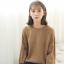Sweater เสื้อสเวทเตอร์แขนยาว สีน้ำตาล ทรงสวย จะใส่เดี่ยวไหรือใส่โค้ทคลุมก็เริ่ด thumbnail 7