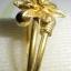(ขายแล้วค่ะ) C009 แหวนทองเหลือง รูปดอกไม้เล็ก ขนาดความกว้างวง 2 ซม thumbnail 3