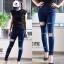Skinny ripped jeans กางเกงยีนส์ขายาวขาด ทรงเข้ารูปเป๊ะ ใส่แล้วผอม ทรงสวยเว่อ!! thumbnail 1
