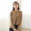 Sweater เสื้อสเวทเตอร์แขนยาว สีน้ำตาล ทรงสวย จะใส่เดี่ยวไหรือใส่โค้ทคลุมก็เริ่ด thumbnail 15