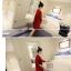 เสื้อคลุมสไตล์เกาหลี สีแดงแต่งลายสกรีน ทรงยาว น่ารัก พร้อมส่งจ้า thumbnail 6
