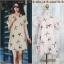 Dress3156 ชุดเดรสทรงปล่อย มีซิปหลังสวมใส่ง่าย ผ้ามิลิน(ผ้าทอหนาเนื้อดี)ลายปลาดาว พื้นสีชมพู thumbnail 1