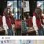 ผ้าพันคอ ไหมพรม เกาหลี สีแดงคาดเขียว มิกกับชุดไหนก็สวย พร้อมส่ง thumbnail 3