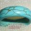 (ขายหน้าร้านแล้วค่ะ) V005 แหวนเทอร์คอยส์ หน้ากว้าง 6มม (หินแห่งพลังอำนาจ)ขนาดความกว้างวง 1.90 ซม thumbnail 1