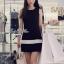 พร้อมส่ง - Dorothy Little Black Dress Pleats Trim Size M : มินิเดรสสีดำตัดขอบขาวที่กระโปรง thumbnail 3
