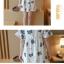 Dress3945 ชุดเดรสทรงปล่อยแขนระบายลายดอกไม้ฟ้าเทาพื้นสีขาว ผ้าคอตตอนลินินเนื้อดีมีน้ำหนักทิ้งตัวสวย งานเกรดพรีเมียมผ้าเนื้อดีไม่ยับง่าย งานสวยดูหรูดูแพง แนะนำเลยจ้า thumbnail 11
