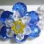 (ขายแล้วค่ะ) L05 สร้อยข้อมือถักรูปดอกไม้ คริสตัลโมดาร์สีน้ำเงิน thumbnail 2