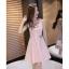 Dress4031 ชุดเดรสน่ารัก งานปักรูปผีเสื้อ อกซีทรู ซิปหลังใส่ง่าย ช่วงเอวเข้ารูป ผ้าเนื้อดีหนาสวยเกรดพรีเมียมมีน้ำหนักทิ้งตัว งานดีผ้าสวยเกินราคา ทรงนี้ใส่ได้บ่อย ใส่ทำงาน/ออกงานได้ มี 2 สี ดำ, ชมพู thumbnail 4