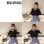 เสื้อแฟชั่น สีดำ แต่งคอ สไตล์เกาหลีใส่ออกมาแล้วแนวมากจ้า พร้อมส่งน้า thumbnail 8