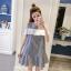 **สินค้าหมด Dress4157 เดรสทรงปล่อยเว้าไหล่แต่งระบายสีขาวช่วงอก ผ้าคอตตอนลายริ้วเนื้อดีนุ่มใส่สบาย งานสวยใส่ง่ายน่ารักมาก ทรงนี้มีติดตู้ไว้ใส่ได้เรื่อยๆ มี 2 สี แดง, กรม thumbnail 10