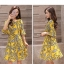 Dress4180 เดรสทรงสวย แขนระบาย ซิปหลังใส่ง่าย มีซับในทั้งชุด ผ้าชีฟองเนื้อดีลายกราฟฟิคโทนสีเหลือง งานดีทรงดี ใส่เมื่อไหร่ก็สวย ทรงนี้ใส่ได้เรื่อยๆ thumbnail 8