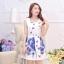 **สินค้าหมด Dress4005 ชุดเดรสทรงสวยผ้าลายเชิงพิมพ์ลายผีเสื้อดอกไม้สีน้ำเงินพื้นขาว ซิปข้างใส่ง่าย มีซับในอย่างดีทั้งชุด ผ้าชีฟองอัดลายเนื้อดีหนาสวยเกรดพรีเมียมมีน้ำหนักทิ้งตัวสวย ผ้าสวยเกินราคา งานดีเหมือนราคาหลักพัน แนะนำเลยจ้า (ไม่มีเข็มขัด) thumbnail 4