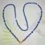 (ขายแล้วค่ะ) M02 สร้อยคอ คริสตัลโมดาร์ (สีน้ำเงินอมม่วง) thumbnail 2