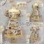 ชุดเดรสคอปกบัว ผ้าแคนวาสพิมพ์ลาย ทรงสวยน่ารัก XXL รอบอก51 วงแขน23 เอว36-42 โพก62 ยาว37นิ้ว thumbnail 1