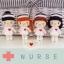 """ตุ๊กตาถัก พวงกุญแจ พยาบาล 4"""" thumbnail 2"""