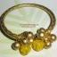 (ขายแล้วค่ะ) B001 กำไลทองเหลือง หยกน้ำผึ้ง ขนาดความกว้างวง 5.90-6 ซม thumbnail 1