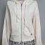 เสื้อแจ็คเก็ตมือสองสีครีม ไซส์ M