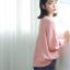Sweater เสื้อสเวทเตอร์แขนยาว สีชมพู ทรงสวย จะใส่เดี่ยวไหรือใส่โค้ทคลุมก็เริ่ด thumbnail 8
