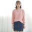 Sweater เสื้อสเวทเตอร์แขนยาว สีชมพู ทรงสวย จะใส่เดี่ยวไหรือใส่โค้ทคลุมก็เริ่ด thumbnail 5