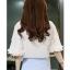 Blouse3640 เสื้อแขนระบายสีพื้นขาวครีมผ้าเนื้อดีมีน้ำหนักทิ้งตัว งานสวยดีเทลดีงาม ผ้าดีดูสวยแพง แมทช์กับอะไรก็เข้า thumbnail 10