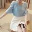**สินค้าหมด Blouse3489 เสื้อคอกลม อกแต่งลูกไม้ แขนสามส่วนระบาย ผ้าชีฟองสีพื้นเนื้อดีนุ่มมีน้ำหนักทิ้งตัว งานสวยน่ารักผ้าเนื้อดีนุ่มใส่สบาย ผ้าสวยเกินราคา แมทช์กับกระโปรงหรือกางเกงก็น่ารักไม่แพ้กันจ้า thumbnail 2