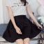 Skirt315 กระโปรงซิปหลังสีพื้นดำมีผ้าผูกเอว ตัดเย็บแบบเก็บทรงช่วงหน้าท้องให้เข้ารูปสวย ผ้าหนาเนื้อดีทิ้งตัว งานดีน่ารักมาก แมทช์กับเสื้อได้หลายแบบ ใส่เก๋ๆ ได้บ่อย thumbnail 1