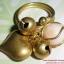 (ขายแล้วค่ะ) C015 แหวนทองเหลือง ประดับหินอาเกตขาว thumbnail 1