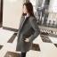 เสื้อโค้ทกันหนาว สไตล์เกาหลี ทรงสวย Classic บุซับในกันลม ใส่แบบตั้งปกขึ้นก็เก๋ สีเทา พร้อมส่ง thumbnail 3