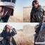 ผ้าพันคอกันหนาว ไหมพรม เกาหลี สีดำแซมขาว น่ารักคุณหนู พร้อมส่ง thumbnail 8