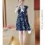 Dress4155 ชุดเดรสไซส์ใหญ่ทรงปล่อยลายดอกไม้โทนสีกรม กระดุมหน้า ผูกโบว์คอ มีซับในอย่างดีทั้งชุด ผ้าชีฟองเกรดพรีเมียมเนื้อดีนุ่มสวยใส่สบาย งานดีดูสวยแพงผ้าดีเหมือนราคาหลักพัน มีติดตู้ไว้ใส่ได้เรื่อยๆ thumbnail 10