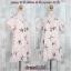 Dress3156 ชุดเดรสทรงปล่อย มีซิปหลังสวมใส่ง่าย ผ้ามิลิน(ผ้าทอหนาเนื้อดี)ลายปลาดาว พื้นสีชมพู thumbnail 2