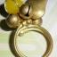 (ขายแล้วค่ะ) C011 แหวนทองเหลืองหัวใจหยกน้ำผึ้ง thumbnail 3