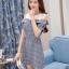 **สินค้าหมด Dress4038 เดรสทรงปล่อยเว้าไหล่แขนตุ๊กตา ช่วงบ่าผ้าคอตตอนเนื้อนุ่มสีพื้นขาวตัดต่อผ้าทอญี่ปุ่นเนื้อดีหนาเรียบสวยไม่ยับง่ายลายสก็อตโทนสีเทา แต่งกระดุมหน้า มีเข็มขัดผ้าเข้าชุด งานน่ารักผ้าเนื้อดีสวยเกินราคา ชุดเดียวสวยจบ ทรงนี้ใส่ได้บ่อย แนะนำเลยน thumbnail 10