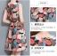 **สินค้าหมด Dress4045 ชุดเดรสทรงสวยลายใบไม้ ซิปหลังใส่ง่าย ผ้าโพลีเนื้อดีนุ่มใส่สบาย งานสวยใส่ง่ายน่ารักมาก thumbnail 7