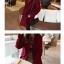 เสื้อโค้ทกันหนาว สไตล์เกาหลี ทรงสวย Classic ผ้าสักกะหลาด บุซับในกันลม ใส่แบบตั้งปกขึ้นก็เก๋ สีไวน์แดง พร้อมส่ง thumbnail 7