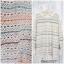 Dress3327 Oversized/Big Size Dress ชุดเดรสไซส์ใหญ่ คอกลม แขนยาว ผ้าไหมพรมถักเนื้อนิ่มสีครีมสลับสีคัลเลอร์ฟูล thumbnail 1