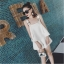 Set_bp1560 ชุดเซ็ท 2 ชิ้น(เสื้อ+กางเกง) เสื้อกล้ามทรงวงกลมชายบานแต่งสายบ่าหัวเข็มขัดเท่ๆ เก๋ๆ มีซิปข้าง กางเกงขาสั้นซิปหน้ากระเป๋าข้าง งานผ้าฮานาโกะเนื้อดีหนาเรียบสวยไม่ยับง่าย เซ็ทสองชิ้นสวยคุ้ม งานน่ารัก แบบสวยไม่ซ้ำใคร (สีพื้นขาว) thumbnail 5