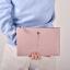 กระเป๋าคล้องมือหนัง ใบใหญ่ สีชมพู แนวๆเก๋ๆ พร้อมส่ง thumbnail 1