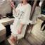 เสื้อตัวยาว/ mini dress สุดน่ารัก ผ้า cotton เนื้อนุ่มแต่งระบายหวานๆ thumbnail 1