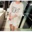 เสื้อตัวยาว/ mini dress สุดน่ารัก ผ้า cotton เนื้อนุ่มแต่งระบายหวานๆ thumbnail 2