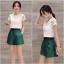 **สินค้าหมด Set_bp1543 ชุด 2 ชิ้น(เสื้อ+กางเกง)แยกชิ้น เสื้อลูกไม้เนื้อนิ่มสีขาว+กางเกงขาสั้นซิปข้างสีพื้นเขียวผ้าเนื้อดีหนาสวย งานน่ารักใส่เก๋ๆ ได้บ่อย แยกใส่กับตัวอื่นก็สวยจ้า thumbnail 1