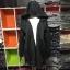 เสื้อคลุมทรงเก๋ สีดำ จะผูกเอวหรือจะใส่แบบปล่อยๆ ก็เก๋ เนื้อผ้ายืดหยุ่นมีน้ำหนักทิ้งตัว ไม่หนาใส่คลุมสบายๆ มีฮู้ดค่ะ thumbnail 14
